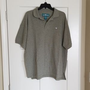Other - Mens Big Dogs brand short sleeve gray polo sz larg